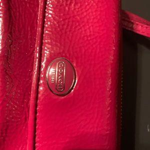 Coach hot pink wallet
